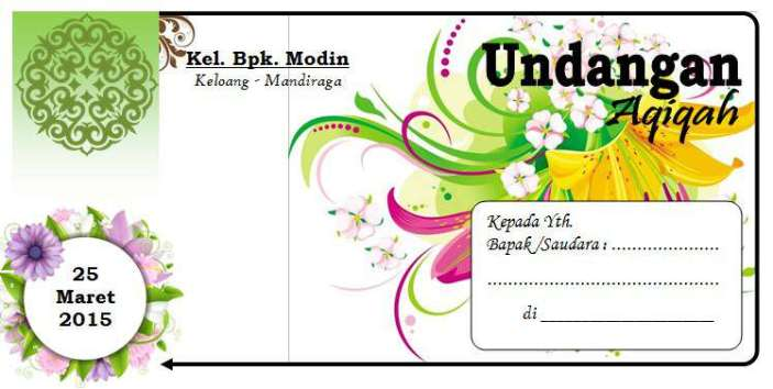 download undangan aqiqah word edit