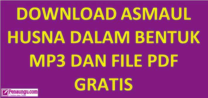 download asmaul husna mp3 dan pdf